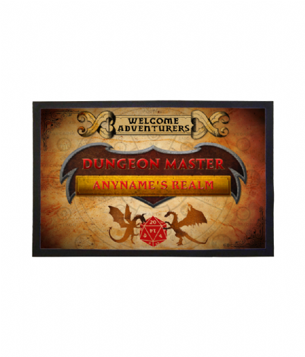 Dungeon Masters Realm Personalised Welcome Adventurers Doormat - Dungeons & Dragons